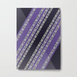 Ultraviolet Leaves #society6 #pattern #ultraviolet Metal Print