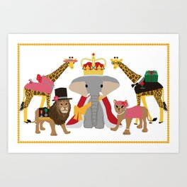 animal party Art Print