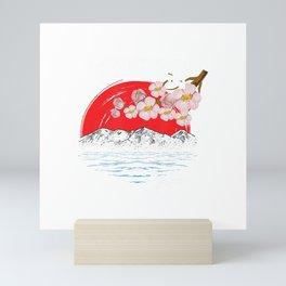 Sapporo Japan Cherry Blossom Art Souvenir T-Shirt Mini Art Print