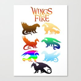 Wings of Fire Tribes dragon Canvas Print