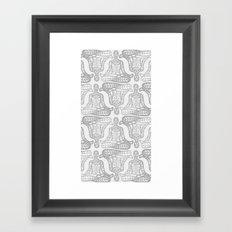 lotus pose mono Framed Art Print