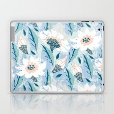 Hand drawn pattern with white flowers Laptop & iPad Skin