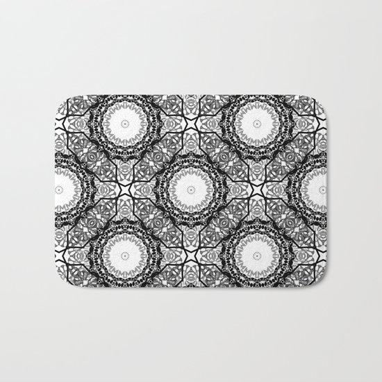 Black and white ornament . 7 Bath Mat