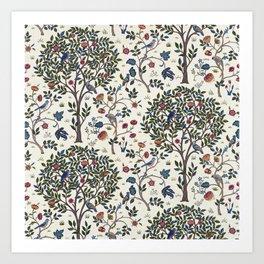 William Morris Trees and Bluebirds  Art Print