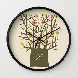 """The """"I love you"""" tree Wall Clock"""