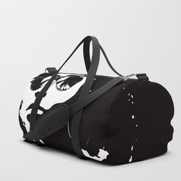 Cool Afro on Black Duffle Bag