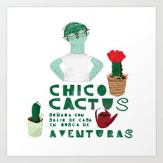 Chico cactus Art Print