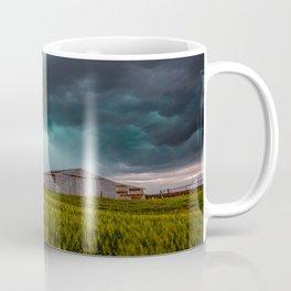 Rainy Day - Storm Passes Behind Barn in Southwest Oklahoma Coffee Mug
