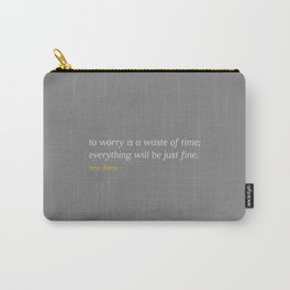 Bea Davis—Grey Carry-All Pouch