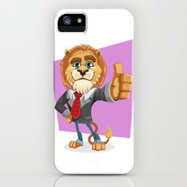 Classy Old Lion iPhone Case