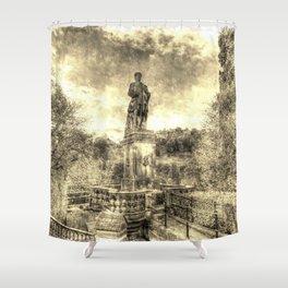 Allan Ramsey And Edinburgh Castle Vintage Shower Curtain