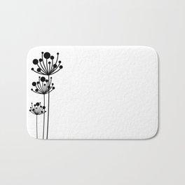 Minimal Floral Bath Mat
