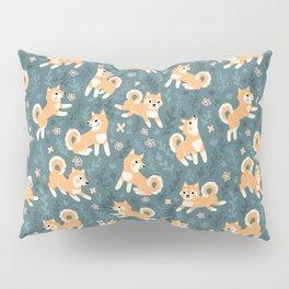 Playful Shiba Inu Pattern Pillow Sham