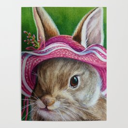 Bunnies in Bonnets No. 6 Poster