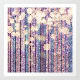 Glitter Pink Grunge Splatter Art Print