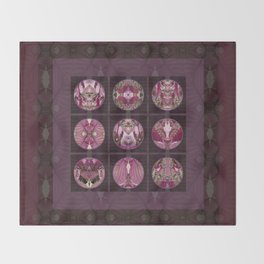 Red Shiso Positive Messages Quilt Art Throw Blanket