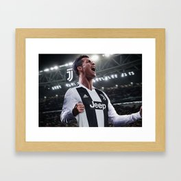 Cristiano Ronaldo Juve CR7 Framed Art Print
