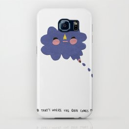 that's where the rain comes from iPhone Case