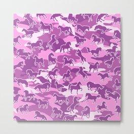 Horse Camo PINK Metal Print