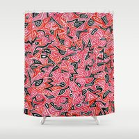 targaryen Shower Curtains featuring Taryn by Leah Moloney