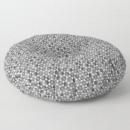 Black and White Small Hexagonal Pattern Floor Pillow