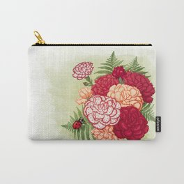 Full bloom | Ladybug carnation Carry-All Pouch