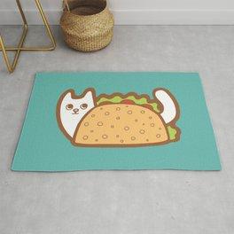 Taco Cat White Rug