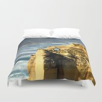 geology Duvet Covers featuring Key Hole Rock #2 by Chris' Landscape Images & Designs