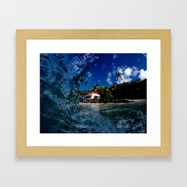 Cinnamon Bay memory glance Framed Art Print
