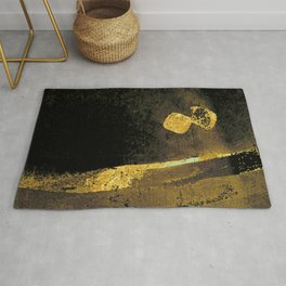 Abstract 002 - Gold - Calligraphy Rug