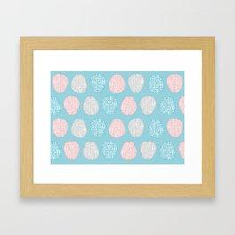 Pastel Brains Pattern Framed Art Print