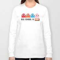 pacman Long Sleeve T-shirts featuring Pacman by PixelPower