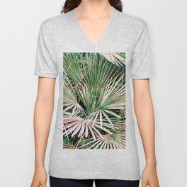 Palms #nature #painting Unisex V-Neck
