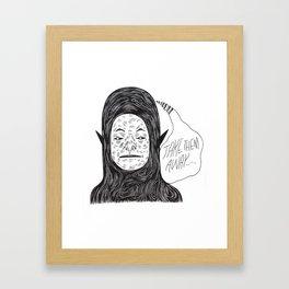 Alien Thoughts Framed Art Print