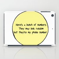 numbers iPad Cases featuring Numbers by Alexia Rose