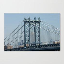 Empire State through Manhattan Bridge Canvas Print