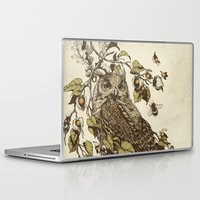 inspirational Laptop & iPad Skins featuring Great Horned Owl by Teagan White