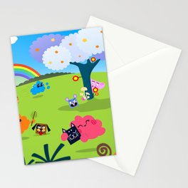 Happy Colorful Planet 02 Stationery Cards