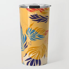 Primary Colors Leaves Travel Mug