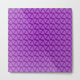Triangularly Purple Metal Print