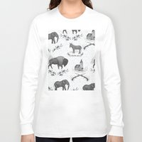 political Long Sleeve T-shirts featuring Political Toile by Jessica Roux