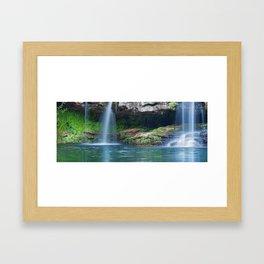 Waterfalls at Fern Pool in Karijini National Park, Western Australia Framed Art Print