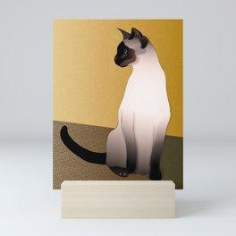 Portrait of a Seal Point Siamese Cat Mini Art Print