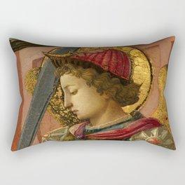 """Fra Filippo Lippi """"The Archangel Michael"""" Rectangular Pillow"""