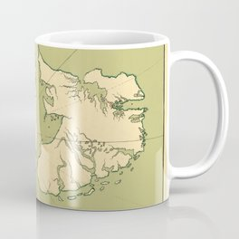 Map Of Falkland Islands 1700 Coffee Mug