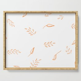Flowy leaves Serving Tray