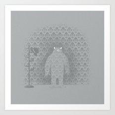 The Wall Monster Art Print