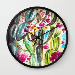 Café Cactus Wall Clock