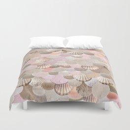 MERMAID SHELLS - CORAL ROSEGOLD Duvet Cover