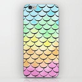 Ombre Rainbow mermaid iPhone Skin